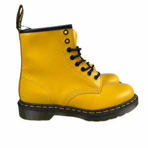 Dr Martens 1460 Smooth Leather Yellow 8 Eye Combat Boots
